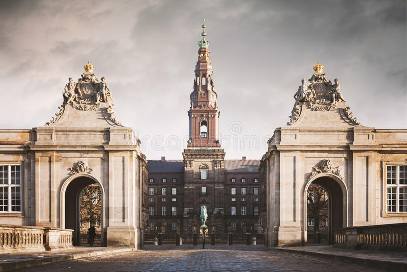 Castillo de Copenhague Christiansborg imágenes de archivo libres de regalías
