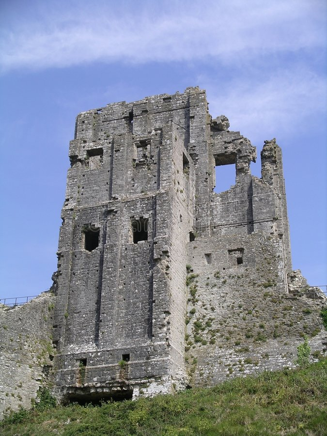 Castillo de Corfe, Inglaterra fotos de archivo