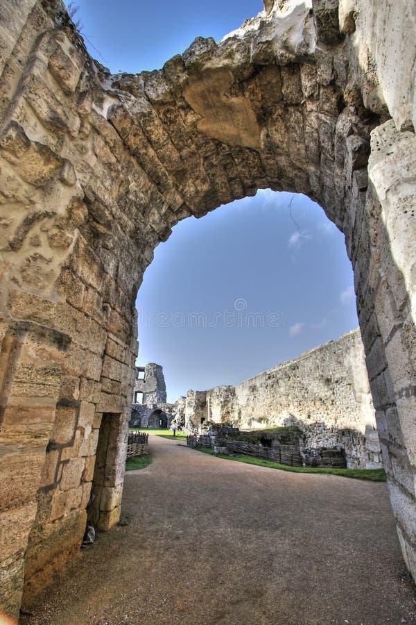Castillo de Coucy le Chateau en Francia imagen de archivo libre de regalías