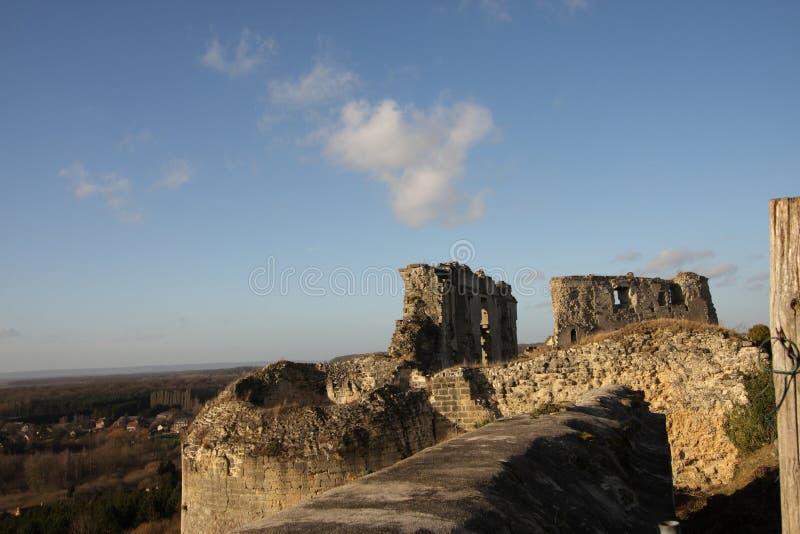 Castillo de Coucy le Chateau en Francia fotografía de archivo libre de regalías