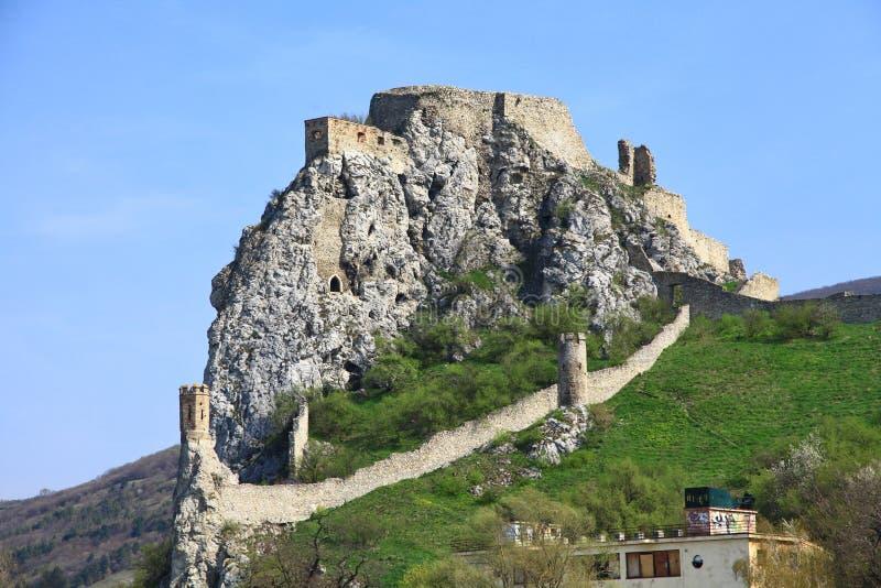 Castillo de Devin foto de archivo
