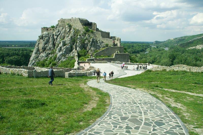 Castillo de Devin fotos de archivo libres de regalías