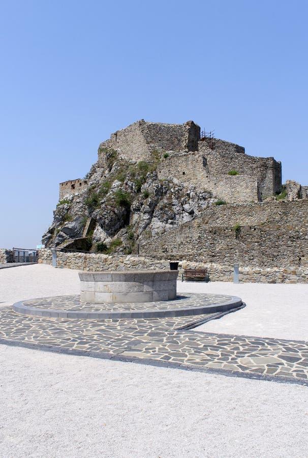 Castillo de Devin cerca de Bratislava. Eslovaquia fotografía de archivo libre de regalías