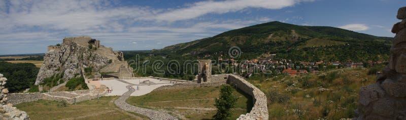 Castillo de Devin en Eslovaquia imágenes de archivo libres de regalías