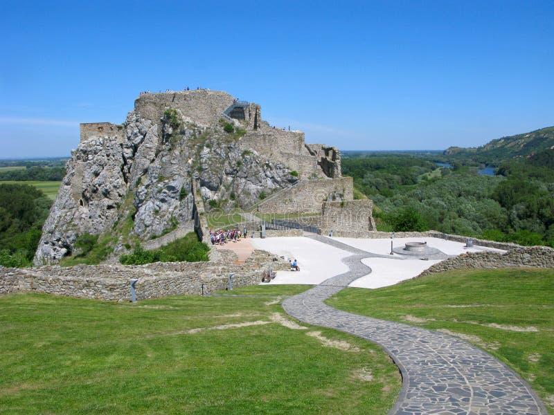Castillo de Devin, Eslovaquia fotos de archivo