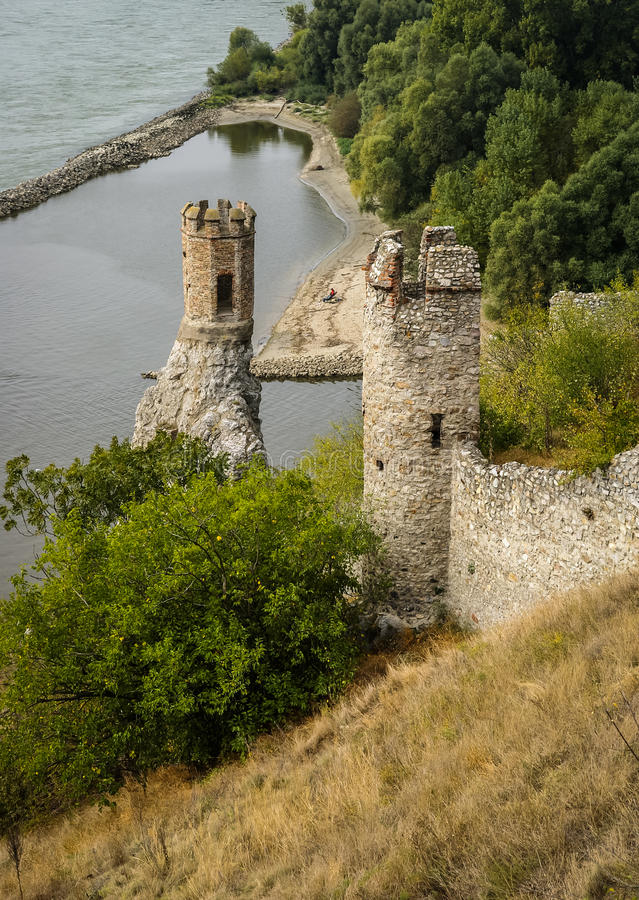 Castillo de Devin, Eslovaquia foto de archivo