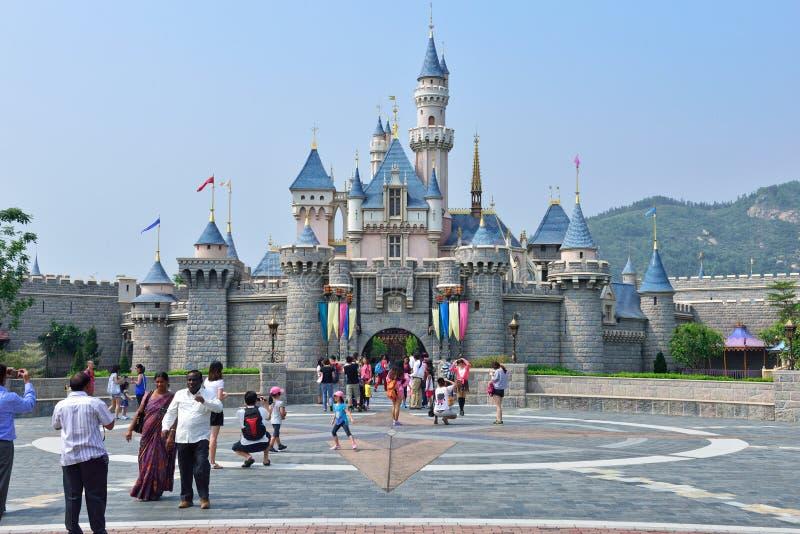 Castillo de Disneyland, Hong Kong imagen de archivo