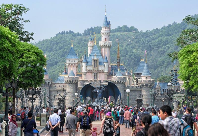 Castillo de Disneyland, Hong Kong fotografía de archivo libre de regalías