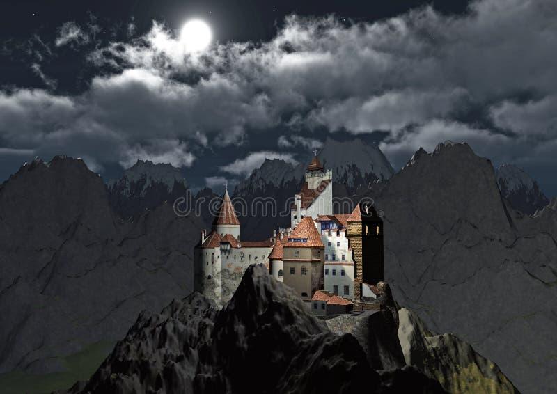 Castillo de Dracula stock de ilustración