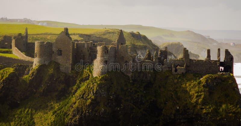 Castillo de Dunlace fotos de archivo libres de regalías