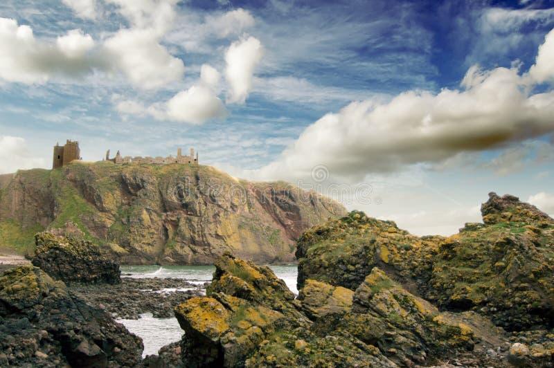 Castillo de Dunnotar, Stonehaven fotografía de archivo libre de regalías