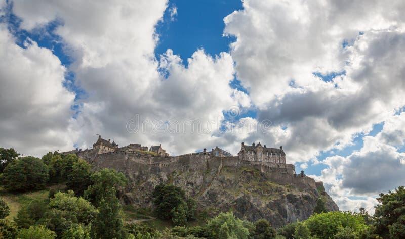 Castillo de Edimburgo en Castle Rock foto de archivo
