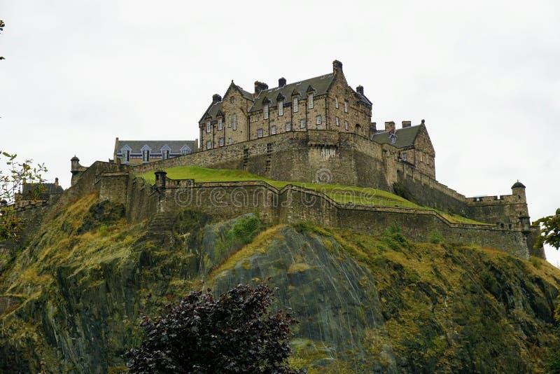 Castillo de Edimburgo en Castle Rock fotos de archivo