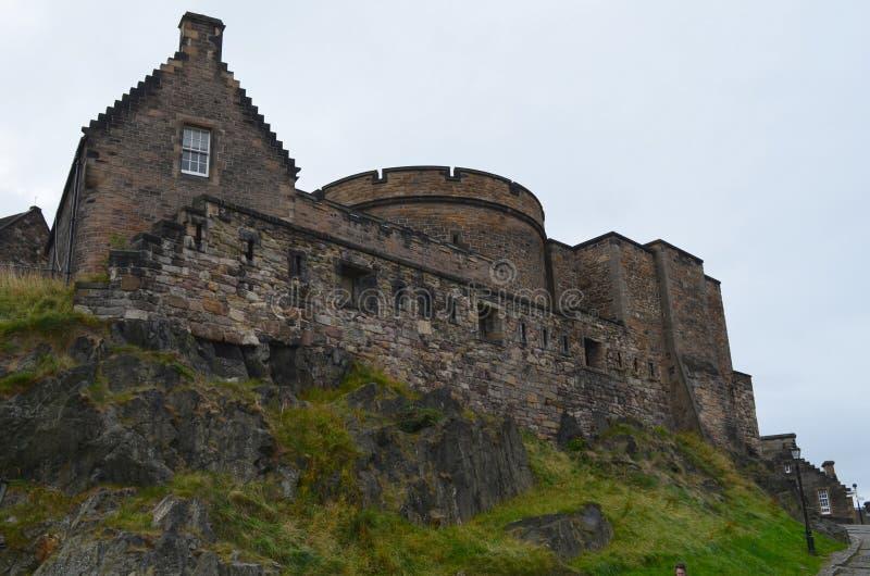 Castillo de Edimburgo en Castle Rock en Escocia imágenes de archivo libres de regalías