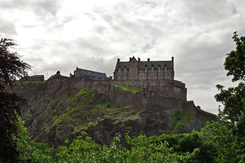 Castillo de Edimburgo en Edimburgo, Escocia, Reino Unido foto de archivo libre de regalías