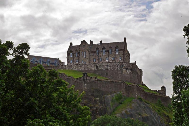 Castillo de Edimburgo en Edimburgo, Escocia, Reino Unido imagen de archivo libre de regalías