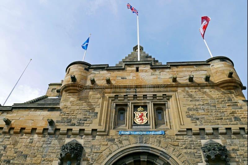 Castillo de Edimburgo en Edimburgo, Escocia, Reino Unido imagenes de archivo