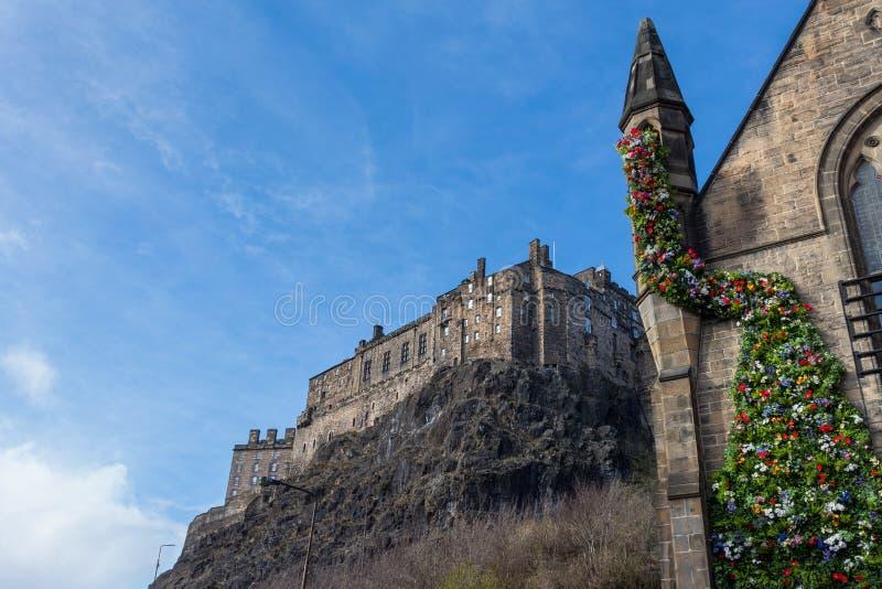 Castillo de Edimburgo, Escocia imagen de archivo