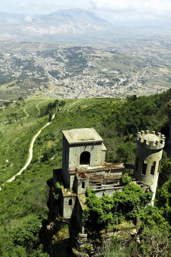 Castillo de Erice imagenes de archivo