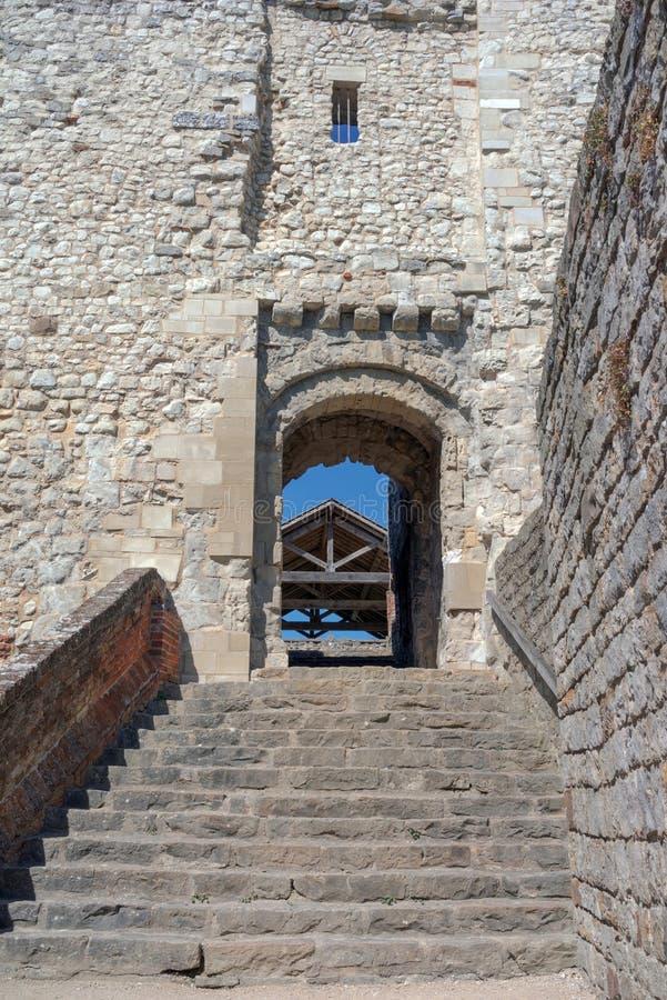 Castillo de Farnham en Surrey imagen de archivo