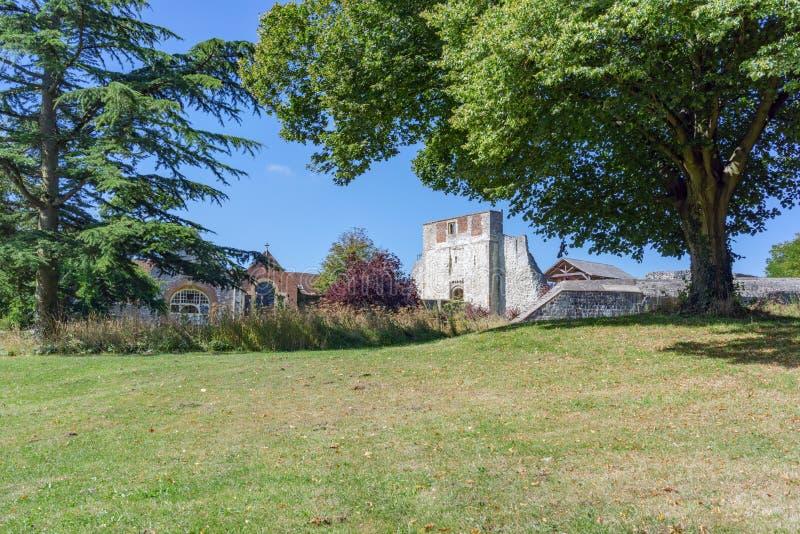 Castillo de Farnham en Surrey foto de archivo libre de regalías