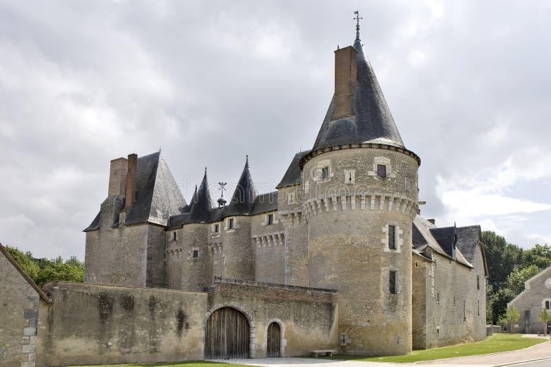 Castillo de Fougeres-sur-Bievre imagenes de archivo