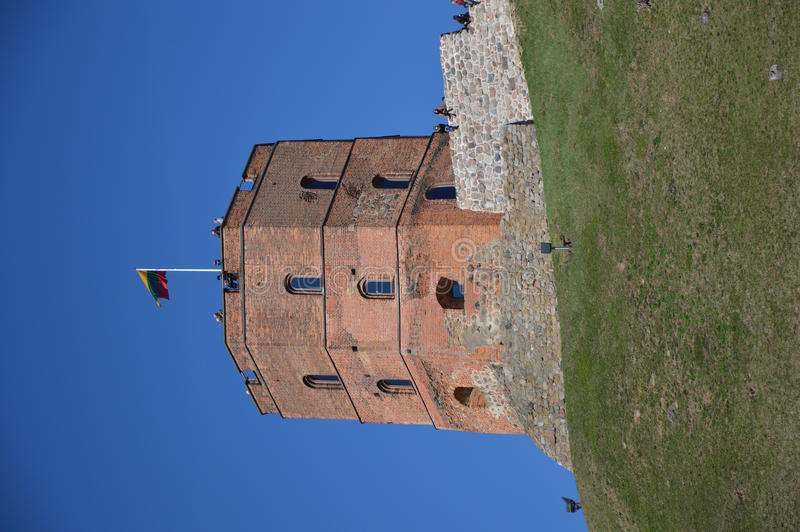 Castillo de Gediminas, Vilna, Lituania fotos de archivo