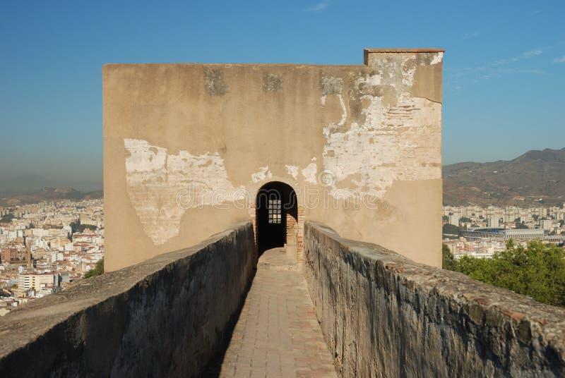 Castillo de Gibralfaro royalty free stock photography