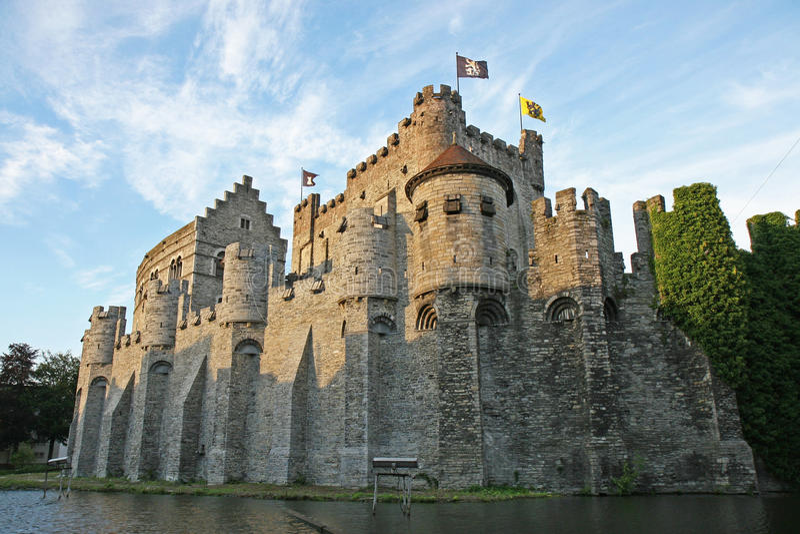 Castillo de Gravensteen foto de archivo