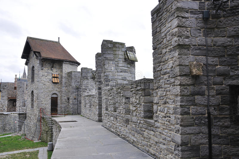 Castillo de Gravesteen en Gante, Bélgica foto de archivo libre de regalías
