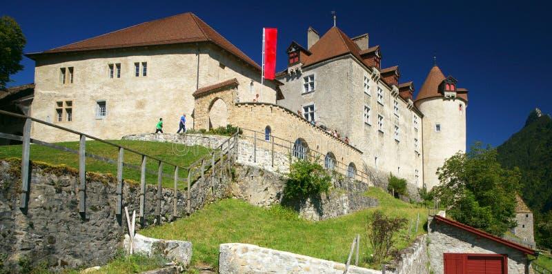Castillo de Gruyeres imagenes de archivo