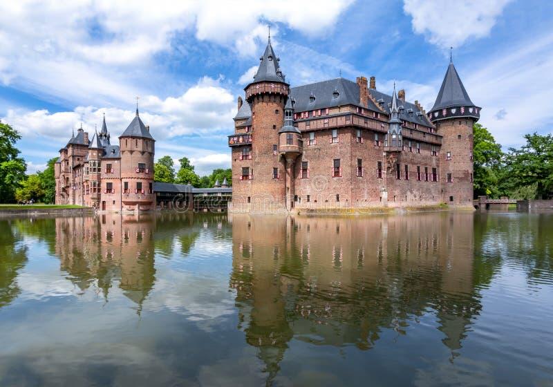 Castillo de De Haar cerca de Utrecht, Países Bajos imagen de archivo