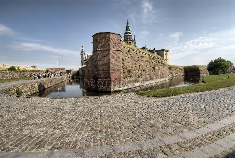 Castillo de Hamlet de Kronborg fotografía de archivo libre de regalías