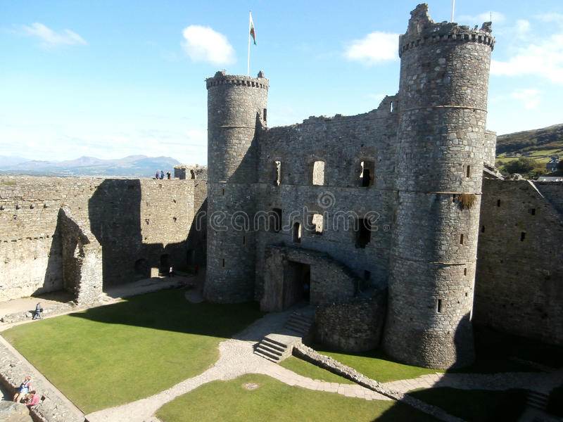 Castillo de Harlech fotografía de archivo