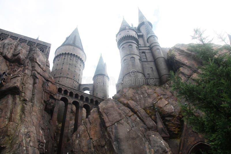 Castillo de Harry Potter Hogwarts fotos de archivo libres de regalías