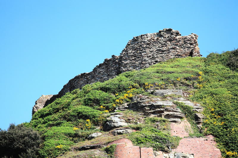 Castillo de Hastings imagenes de archivo