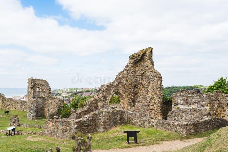 Castillo de Hastings fotografía de archivo libre de regalías