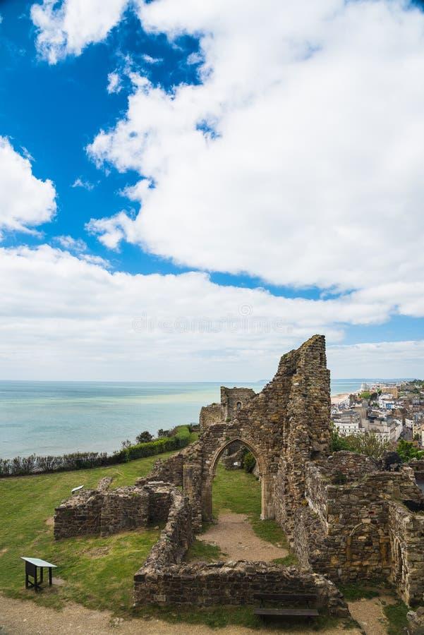 Castillo de Hastings foto de archivo