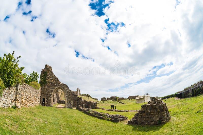 Castillo de Hastings del fisheye imagen de archivo libre de regalías