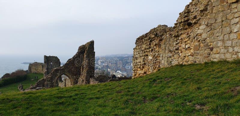 Castillo de Hastings imagen de archivo libre de regalías