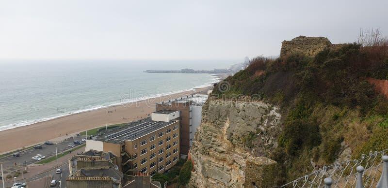 Castillo de Hastings fotos de archivo libres de regalías