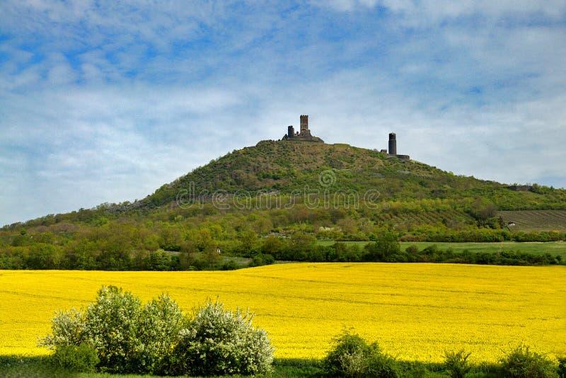 Castillo de Hazmburk imagen de archivo libre de regalías