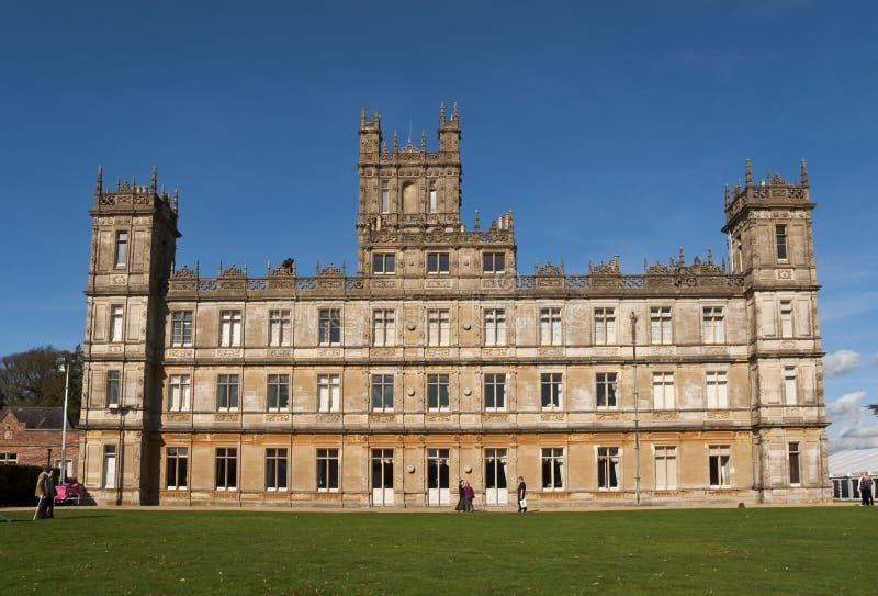 Castillo de Highclere que ofrece como abadía de Downton imágenes de archivo libres de regalías