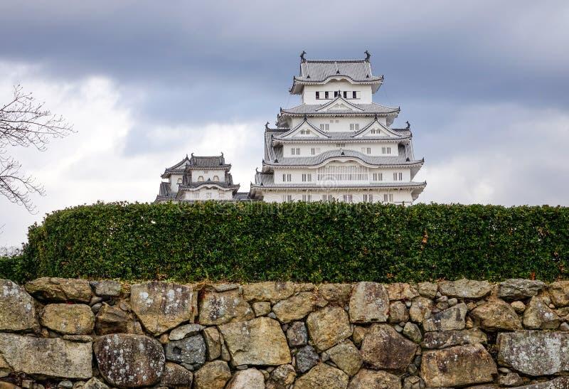 Castillo de Himeji en d?a lluvioso foto de archivo