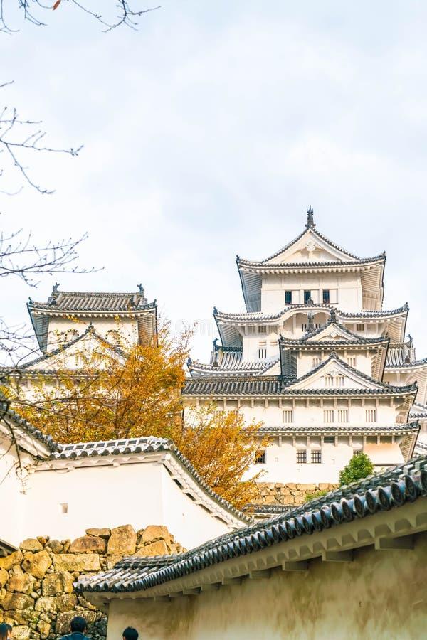 Castillo de Himeji en la prefectura de Hyogo, Japón, patrimonio mundial de la UNESCO imagen de archivo