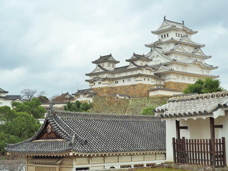 Castillo de Himeji situado en Himeji, prefectura de Hyogo, Japón fotos de archivo libres de regalías
