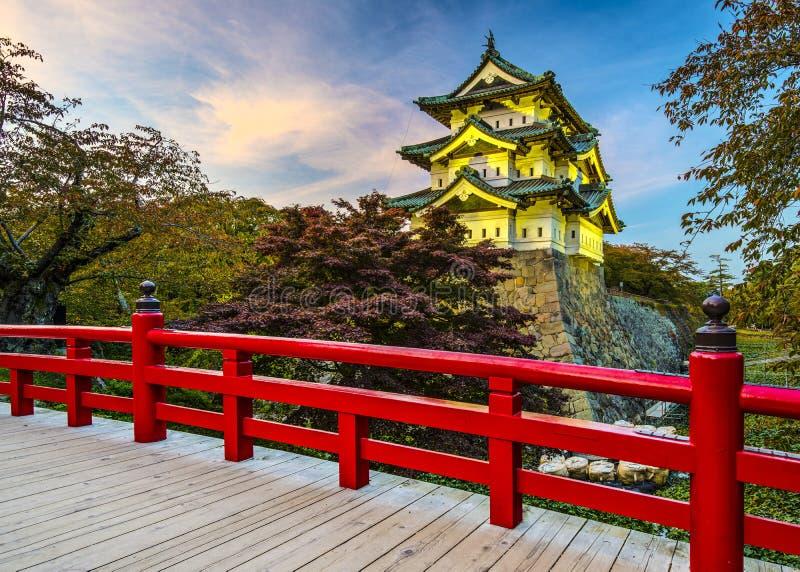 Castillo de Hirosaki fotografía de archivo