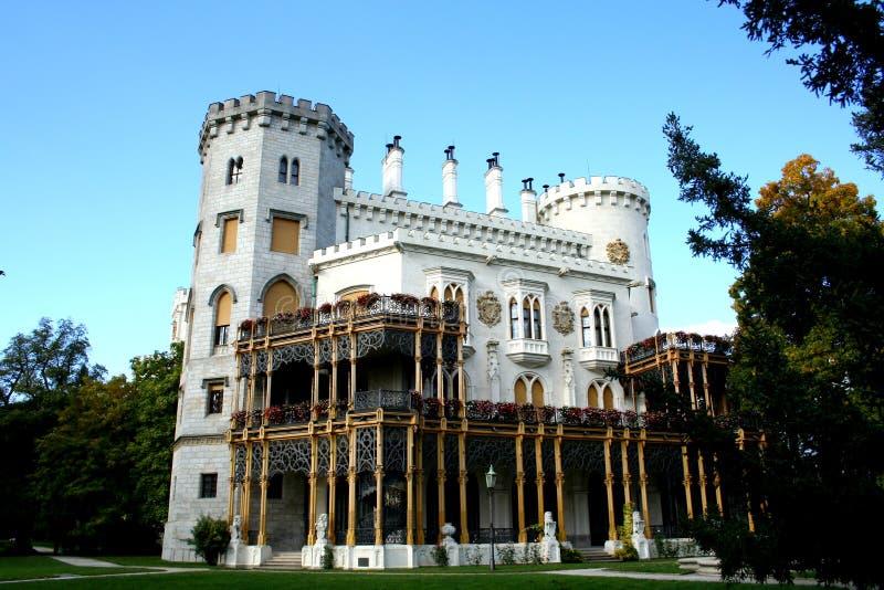 Castillo de Hluboka nad Vltavou foto de archivo