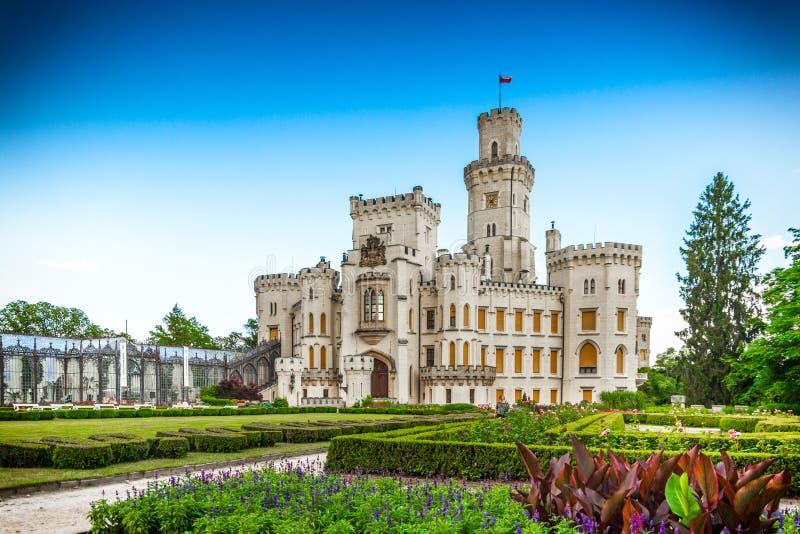 Castillo de Hluboka nad Vltavou en Rep?blica Checa imagen de archivo