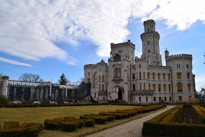 Castillo de Hluboka nad Vltavou, República Checa imagen de archivo libre de regalías